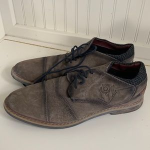 Bugatti Gray/ Brown Men's Shoes with Navy laces